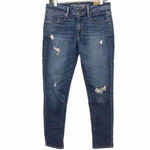 American Eagle Super Skinny Destroyed Jeans